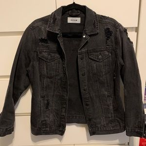 Black denim jean jacket